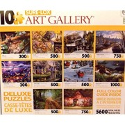 Sure-Lox Collection of 10 Deluxe Puzzles Of an Amazing Photo Art Gallery - 5600 Jigsaw Puzzle Pieces By Various Artists (YELLOW BOX) by TCG Toys