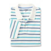 ランズエンド LANDS' END メンズ・ヘリテージ・ポロ/ストライプ/半袖/ポロシャツ(エッグシェルホワイトオックスフォードストライプ)