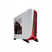 Gabinete Media Torre Micro Atx Miniitx Corsair Spec Alpha White Red Sin Fuente Cc-9011083-ww