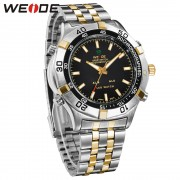 WEIDE Luxury Male Clock Business Watches Stainless Steel Men Brand Quartz Clock Casual Style Analog Display Waterproof WH905