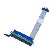 Taśma - przedłużacz riser PCI-E PCI Express 1X - 16X 24cm z zasilaniem molex