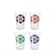 Copos de Tequila Shot Fichas de Poker