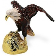 Objet DArt Release #273 E Pluribus Unum Usa Bald Eagle Handmade Jeweled Metal & Enamel Trinket Box