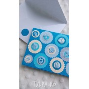 Invitatie de botez Bubble Baby Boy