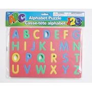 Alphabet Educational Learning Aids Bundle - Upper Case Foam Puzzle and Phonics Flash Cards