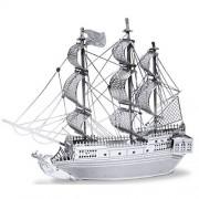 Metal Earth - 5061012 - Maquette 3d - Bateaux - Bateau Pirate La Perle Noire - 9,91 X 7,92 X 1,78 Cm - 2 Pièces-Metal Earth