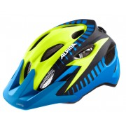 Alpina Carapax Flash Helm Juniors blue-yellow-black 51-56 cm Bike Helme