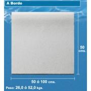 Borde de piscina de 50x100 blanco granallado