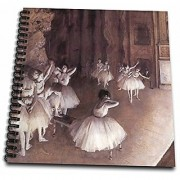 3dRose LLC db_126968_1 Drawing Book 8 by 8-Inch Ballet Rehearsal on The Stage by Edgar Degas