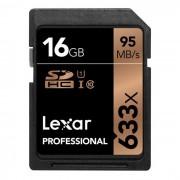 Lexar profesional 633X SDHC 16GB uhs-i clase 10 Leido: 95MB / s
