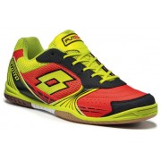 Lotto Tacto 500 Indoor férfi foci cipő piros/sárga
