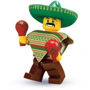 Lego Collectable Minifigures: Mexican Mariachi Maraca Man Minifigure - Series 2 - Bagged