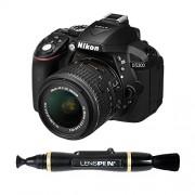 Nikon D5300 24.1MP Digital SLR Camera (Black) with 18-55mm VR II Kit Lens + Card and Camera Bag + Benro T600EX Digital Tripod Kit + Lenspen NLP-1 Cleaning Brush (Black)