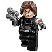 LEGO Marvel Super Heroes Civil War Minifigure - Winter Soldier with Blaster Gun (76051)