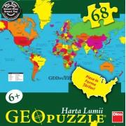 PUZZLE GEOGRAFIC - HARTA LUMII (68 PIESE) (712010)