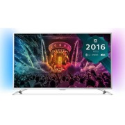 "Televizor LED Philips 139 cm (55"") 55PUS6501, Ultra HD 4k, Smart TV, WiFi, Android TV, Ambilight (Argintiu) + Voucher Cadou 50% Reducere ""Scoici in Sos de Vin"" la Restaurantul Pescarus"