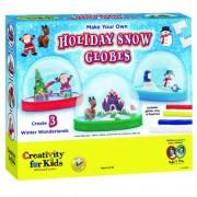 Creativity for Kids, Kit per realizzare sfere natalizie con neve