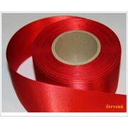Stuha saténová cervena 6 cm obojstranná
