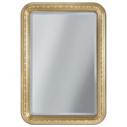 Miroir rectangulaire angles arrondis gold Swarovski