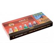 Culori acrilice, 10 culori/set, KOH-I-NOOR