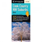 Universal Map Cook County Northwest Suburbs Fold Map (Set of 2) 12242