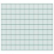 vidaXL 2D Panneaux de clôture de jardin 2008 x 1830 mm 4 m Vert