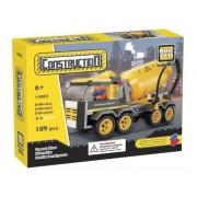 2 Item Bundle: Brictek Construction Cement Mixer 189 Pcs Building Set + FREE Melissa & Doug Scratch Art Mini-Pad Bundle