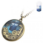 Doctor Who Tardis Gears Necklace