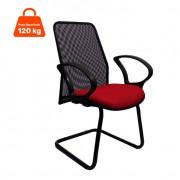 Cadeira de Escritório Tela Fixa Fixa Vermelha