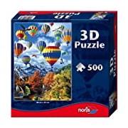 Noris Spiele 606031084 - Hot Air Balloon 3D Jigsaw Puzzle, 500 Pieces