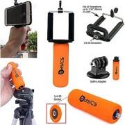 AccessoryBasics SNAP-II Smartphone Holder Mini Hand Grip Stabilizer & GOPRO Tripod Adapter for Apple iphone 7 Plus 6s 3 SE Samsung Galaxy S7 Edge LG G5 (Fits Hero 4 5 Session Camera)