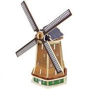Panegy 3D Holland Windmill Wood Jigsaw Puzzle DIY Woodcraft Model Kit Toys