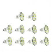 6W GU4(MR11) Lâmpadas de Foco de LED MR11 12 SMD 5730 570 lm Branco Quente / Branco Frio DC 12 V 10 pçs