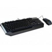 Kit Gamer de Teclado y Mouse Cooler Master Devastator II Azul, Alámbrico, USB, Negro