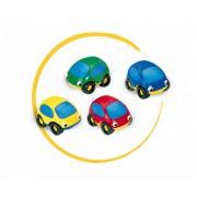 Smoby maşinuţă de copii Vroom Planet 750005 roşu/albastru/verde/galben