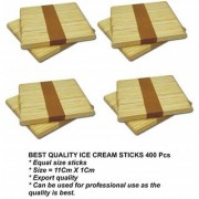 Ice Cream Stick Colorful BEST QUALITY( Set of 400 Sticks)