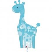 Balon folie figurina girafa It's a Boy, Amscan 24583
