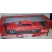 1964 Ford Galaxie 500 Chief Fire Department Car, Red Sun Star 1448 1/18 Scale Diecast Model Toy Car