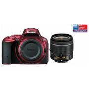 Nikon D5500 kit (AF-P 18-55mm VR) (roșu)