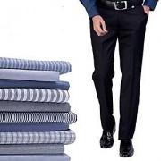 Gwalior Men's Suiting Shirting Gift Combo 10 Trouser 10 Shirt Fabric