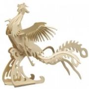 Puzzle eco 3D din lemn Pasarea Phoenix Pebaro