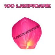 100 Lampioane Zburatoare Roz