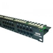 Accesoriu pentru rack: LanKATT Patch Panel 19 inch 50 porturi telefonice cu suport de cabluri