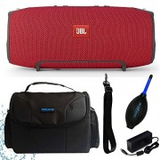 Pixibytes red : JBL Xtreme Portable Wireless Bluetooth Speaker (Red) + I3ePro Water Resistant Carry Case + I3ePro Dust Blower