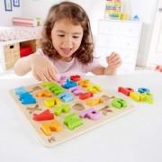 Jucarie eco din lemn Lowercase Alphabet Puzzle Hape