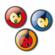 Insigne, 3buc/set, Roller NIKIDOM - Emoticonos Fun