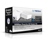 TRENDnet TPL-401E2K :: Комплект 500 Mbps Powerline AV адаптери