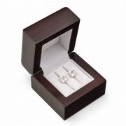Dřevěná dárková krabička na snubní prsteny JB-2/NA