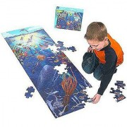 Under The Sea: 100-Piece Floor Puzzle + Free Melissa & Doug Scratch Art Mini-Pad Bundle [04435]