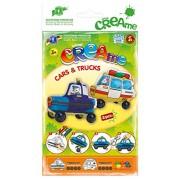 Feuchtmann Giocattoli 6340700 - Klecksi crema automobili e camion, 3D - Colorare, polizia e ambulanza motivo